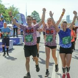 Tet Riga Marathon - Agne Lapsa (5017), Santiago Madridejos (5855), Maria Fernanda Gonzalez (5856)