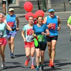 Tet Riga Marathon - Lisa Friesen (1532), Kaspars Daube (1922), Aija Freiberga (2174), Elke Bartholomae (4230)