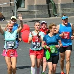 Tet Riga Marathon - Kaspars Daube (1922), Santa Birģele (2172), Aija Freiberga (2174), Elke Bartholomae (4230)
