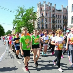 Tet Riga Marathon - Zenta Spillere (20623), Alise Kuģe (22196), Aleksis Kuģis (22197), Gunita Grīsle (23414)