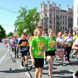 Tet Riga Marathon - Zenta Spillere (20623), Ilona Rudzīte (21156), Alise Kuģe (22196), Aleksis Kuģis (22197)