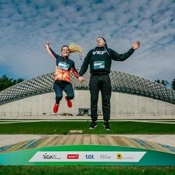 Trase Maratons Mežaparkā '21 - Tatjana Kukule (677), Jānis Krūka (678)