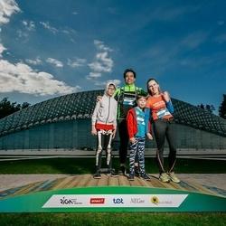 Trase Maratons Mežaparkā '21 - Elīna Sprūde-Nesenberga (453), Krišjānis Nesenbergs (454)