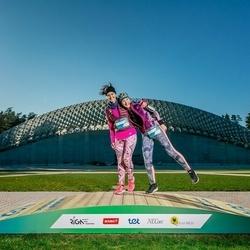Trase Maratons Mežaparkā '21 - Jelena Popova (616), Natalja Mihailova (617)
