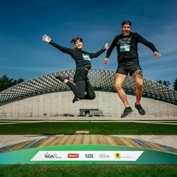 Trase Maratons Mežaparkā '21 - Sandis Štrovalds (682), Laura Očagova (683)
