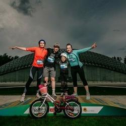 Trase Maratons Mežaparkā '21 - Ilona Jansone (115), Rasa Jansone (116), Karīna Pozņakova (122), Druvis Jansons (579)