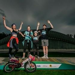 Trase Maratons Mežaparkā '21 - Ilona Jansone (115), Rasa Jansone (116), Druvis Jansons (579)