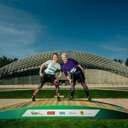 Trase Maratons Mežaparkā '21 - Iveta Rijniece (601), Ieva Zvejniece (604)