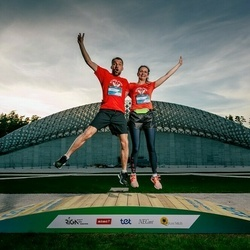 Trase Maratons Mežaparkā '21 - Zane Martinsone (310), Elmārs Martinsons (312)