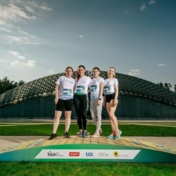 Trase Maratons Mežaparkā '21 - Oļesja Ždanova (376), Līva Engere (378), Anete Andruškevica (400), Elīna Grišķane (401)