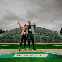 Trase Maratons Mežaparkā '21 - Inese Pinka (628), Dainis Pinka (629)