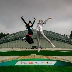 Trase Maratons Mežaparkā '21 - Aleksandra Denisova (527), Jelizaveta Sazonova (529)