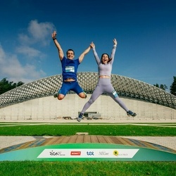 Trase Maratons Mežaparkā '21 - Konstantins Čursins (537), Svetlana Čursina (542)