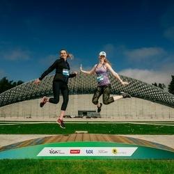 Trase Maratons Mežaparkā '21 - Aija Kesmina (136), Ieva Šponberga (145)