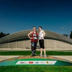 Trase Maratons Mežaparkā '21 - Elīna Greiziņa (612), Sanita Pavloviča (613), Elīna Pavloviča (614)