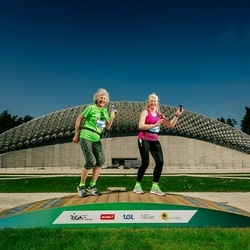 Trase Maratons Mežaparkā '21 - Inese Cankova (163), Silvija Čevere (164)