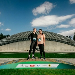 Trase Maratons Mežaparkā '21 - Viktorija Zaiceva (425), Lidija Mazure (427)
