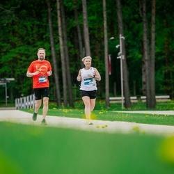 Trase Maratons Mežaparkā '21 - Ieva Irbina (125), Ģirts Krastiņš (126)