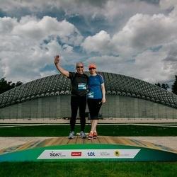 Trase Maratons Mežaparkā '21 - Aivija Kursīte (240), Aleksandrs Novickis (241)