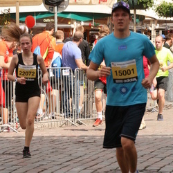 The 24th Nordea Riga marathon - Gaits Lapsa (15001), Katrīna Lavrentjeva (22072)