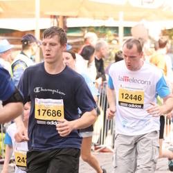 The 24th Nordea Riga marathon - Mārcis Eglītis (12446), Pēteris Panovs (17686)