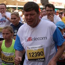 The 24th Nordea Riga marathon - Voldemārs Zondaks (12390), Letīcija Kalniņa (23735)