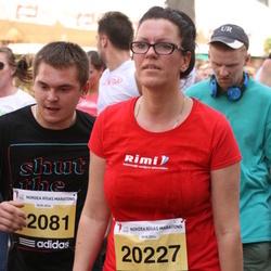 The 24th Nordea Riga marathon - Aivis Berģis (12081), Jolanta Grunte-Krocāne (20227)