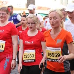 The 24th Nordea Riga marathon - Baiba Opmane (15959), Laura Ivanova (23583)