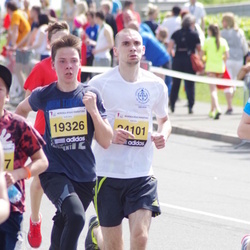 The 24th Nordea Riga marathon - Dzintars Emīls Melnis (19326), Dmitrijs Lihacovs (24101)