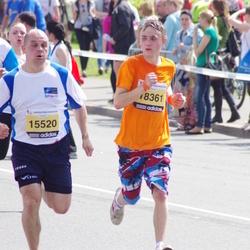 The 24th Nordea Riga marathon - Nauris Burtnieks (15520), Raitis Plasiņš (18361)