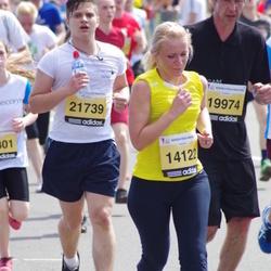 The 24th Nordea Riga marathon - Santa Šika (14122), Juris Jevsejevs (21739)