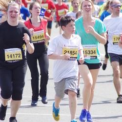 The 24th Nordea Riga marathon - Elīna Paegle (14172), Dāvis Huškadamovs (21854)