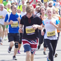 The 24th Nordea Riga marathon - Kristīne Bahtina-Strautāre (13067), Andris Bruģis (19201)