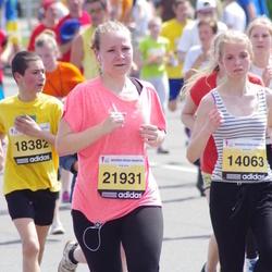 The 24th Nordea Riga marathon - Laura Ķirsone (14063), Viktors Sils (18382), Linda Helmane (21931)