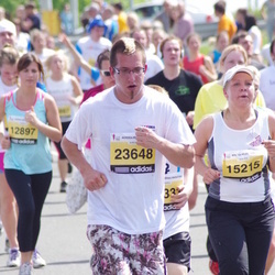 The 24th Nordea Riga marathon - Maija Zvirbule (15215), Zintis Zariņš (23648)