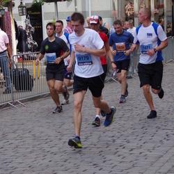 The 24th Nordea Riga marathon - Aivars Orenišs (1638), Haralds Liniņš (7471), Marks Ronis (7722), Ivars Kruglinskis (9179)