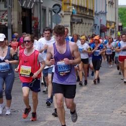 The 24th Nordea Riga marathon - Kaspars Burka (11707), Justīne Balmane (15381)