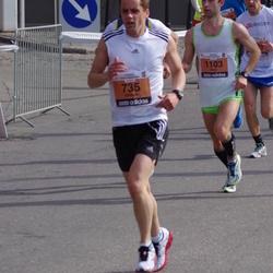 The 24th Nordea Riga marathon - Edvinas Vyzas (735), Viktar Shumel (1103)