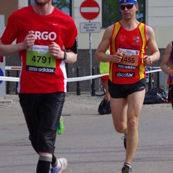 The 24th Nordea Riga marathon - Valdis Kulpe (1455), Arūnas Šatas (4791)