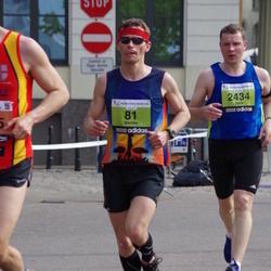 The 24th Nordea Riga marathon - Mareks Meņšikovs (81), Juris Fotins (2434)