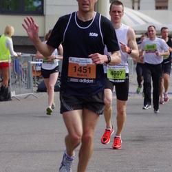 The 24th Nordea Riga marathon - Mežulis Ansis (1451), Artūrs Rukkalns (4607)