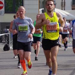 The 24th Nordea Riga marathon - Oliver Westbury (1111), Andrei Dundin (1347), Edgars Matuks (1525), Risto Tamme (2323)