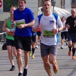 The 24th Nordea Riga marathon - Andrei Dundin (1347), Andrejs Arājs (3874), Ģirts Vēvers (5501)