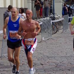 The 24th Nordea Riga marathon - Riccardo Pasqual (674), Filippo Carraro (677)