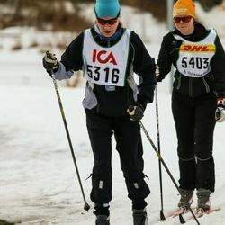 Skiing 30 km - Kristina Mustajärvi (5316), Christina Andersson (5403)