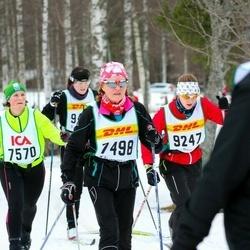 Skiing 30 km - Ann-Katrin Giers (7498), Jenny Felth (7570), Tua Söderström (9247)