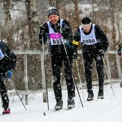 Skiing 90 km - Fredrik Carlstedt (5980), Sören Eriksson (6837)