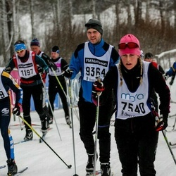 Skiing 90 km - Emeli Ryman (7540), Jens Fälldin (9364)
