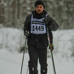 Skiing 90 km - Christoffer Clarin (3449)