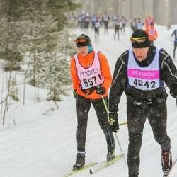 Skiing 90 km - Matti Poutanen (4642), Christina Eliasson Skoglar (5571)